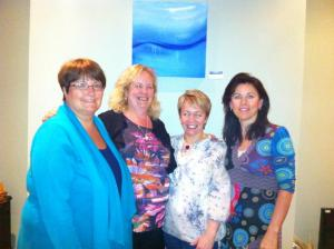 Siobhan with some of the women who finished our recent AFP circle in June 2013