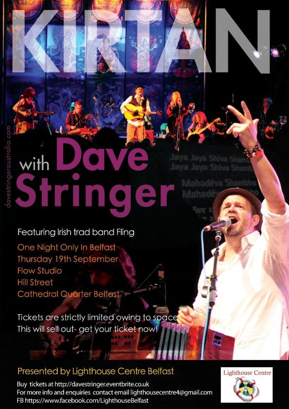 Don't Miss This Once Only chance to join International Kirtan superstar Dave Stringer